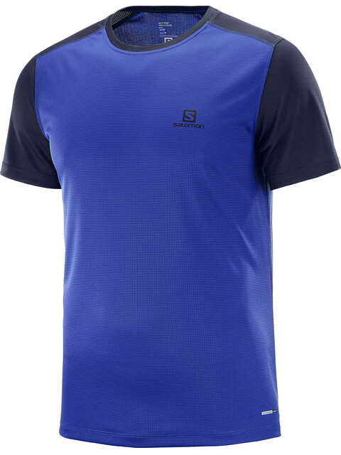 Salomon Stroll - Camiseta manga corta Hombre - azul/negro
